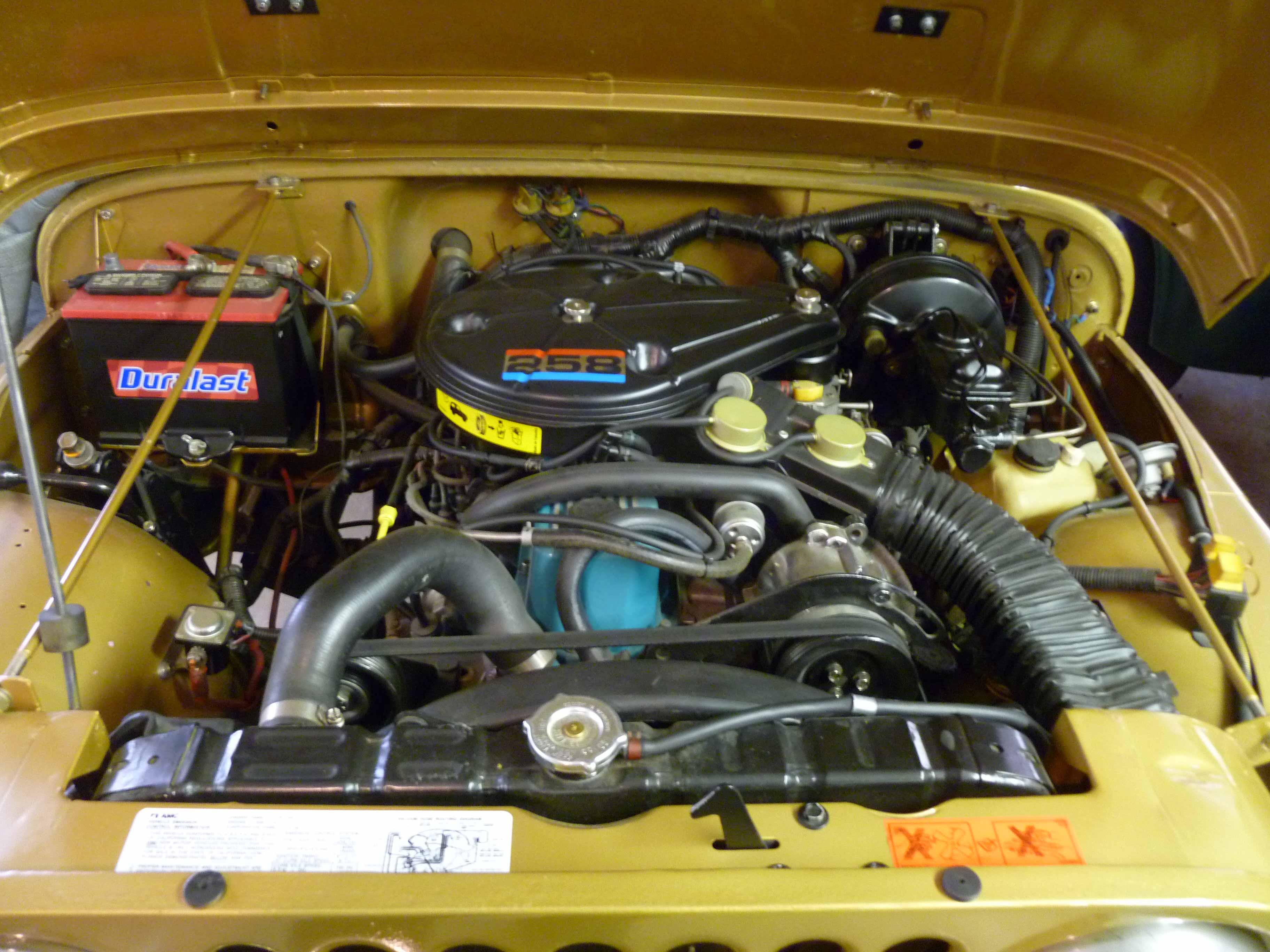1982 jamboree parts engine  the jambo came standard with amc\u0027s 258 ci engine this was an upgrade from the 151 ci 4 cyl the 258 produces 145 hp @ 4300 rpm and 215 ft lb of